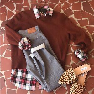 Jcrew brown merino sweater. Size 8.